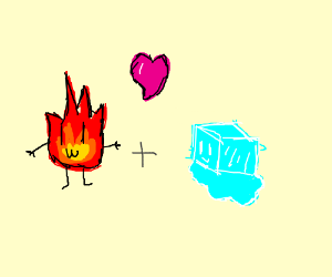 Fire elemental and ice elemental are BFFs.