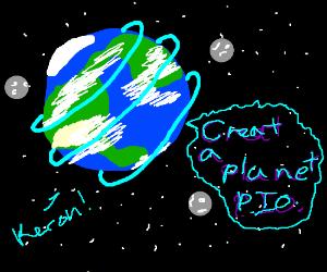 create a planet (Pass.It.On. P.I.O)