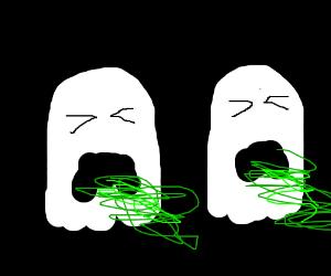 Vomiting ghosts