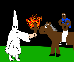 KKK member forces Terry to do old spice adds