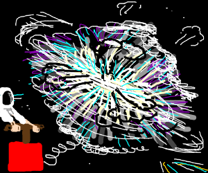 Anti matter explosion