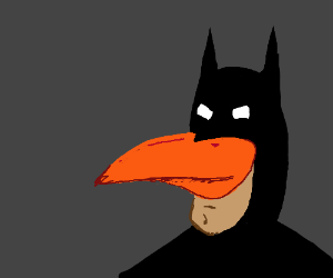 Batman with a literal robin's beak