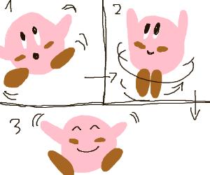 Kirby does a cute dance :3