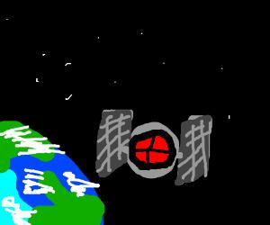 sKY ROCKETS IN FLIGHT (jk it's a spaceship)