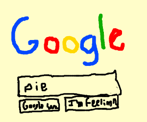 browsing the internet for a pie