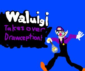 WALUIGI! 'smashes' into drawception!