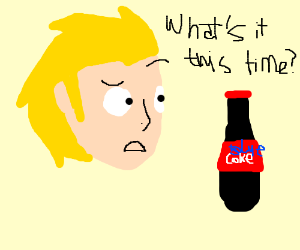 Man confused over new coke
