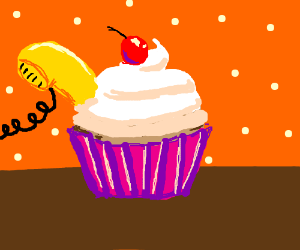 There's a phone in my cupcake!