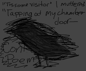 Rapping at my chamber door (Continue poem)