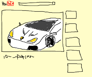 an internet video of a white Lamborghini