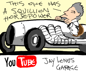 A YouTube video of a car