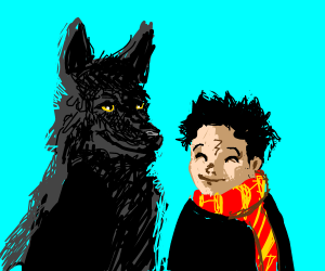 Lil harry potter and Padfoot
