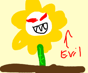 Evil sunflowers are evil