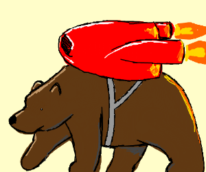 Bear with a jetpack