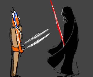 Ahsoka vs Darth Vader