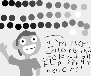 Colorblind man questions his colorblindness.