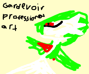 Badly drawn Gardevoir