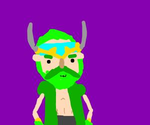 green beard old hipster viking
