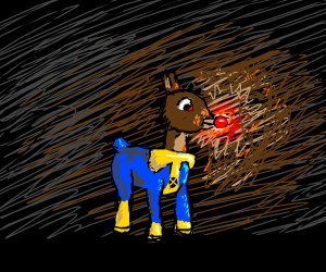 Rudolph the red-nosed reindeer, as an x-men