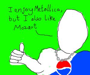 1/2 Metal Pepsi man