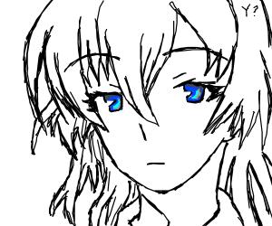 Kurokami's Yato With Piercing Blue Eyes