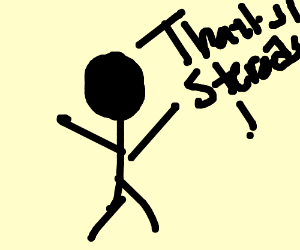A guy thanking steroids