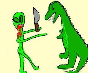 alien zombies vs dinasour