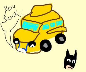 The magic school bus dislikes Batman