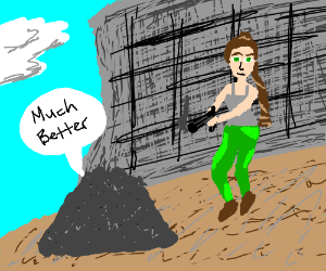 Ash pile approves of Lara Croft's improved aim