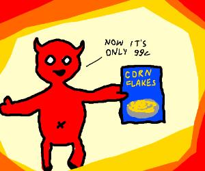 satan advertising corn flakes!