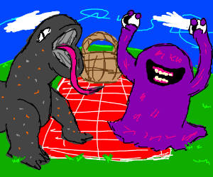 monsters having a picnic