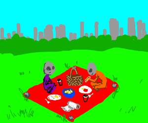 Aliens have a Nice Picnic