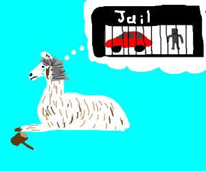 Llama regrets imprisoning that car and robot