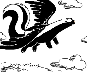 A skunk with wings