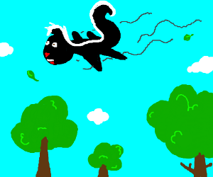 Skunk is a flying squirrel