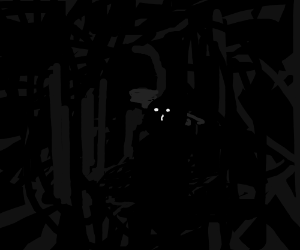 Saul Goodman in a dark room.