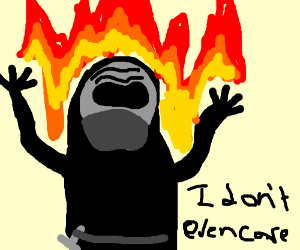 Kylo Ren on fire, kylo Ren don't care.