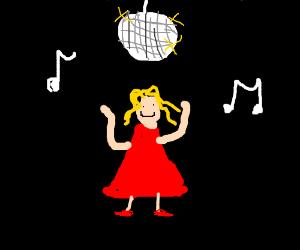 Red dress girl emoji 97