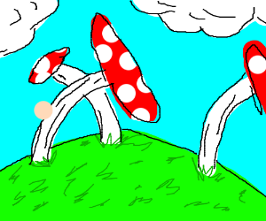 Trippy mushroom world