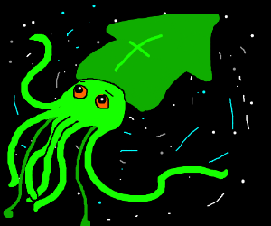 Squid alien(?) In the milky way