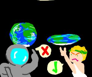 flat earth believer