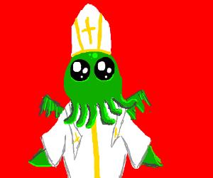 Green Alien Squid Pope.