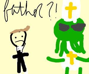 the priest is really cthulhu!