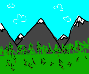 Well-forested mountains