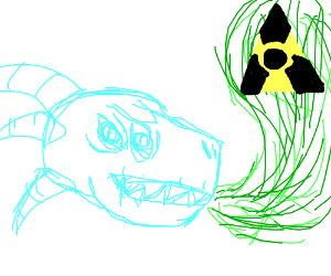 Rad dragon breathes radioactive.