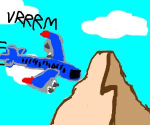 Plane crashes into a mountain