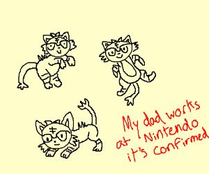 red fire cats dad works at nintendo