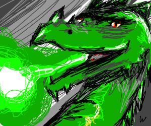 a dragon that breathes poison gas