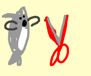 Shark attacked by Red Scissor Blade