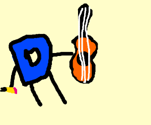 Drawception D is a hero. A guitar hero.